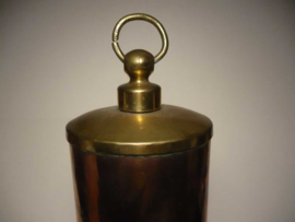 Antieke warmwaterkruik, warm water kruik koper