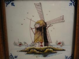Tegel met molen, Tichelaar Makkum