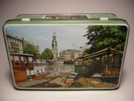 Blik met afbeeldingen van Amsterdam