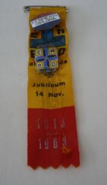 EHBO lint, jubileum 14 Nov 1813-1963, emaillen speldjes