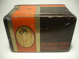 Blik De Gruyter's cacao (oranjemerk)