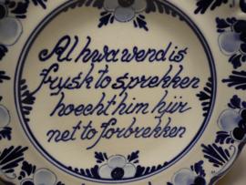 Wandbordje met tekst