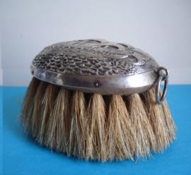Antiek zilveren Hollandse kleding borstel