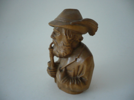 Pijp, rokende man, gemaakt van hout