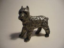 Bouvier beeldje, hond van metaal