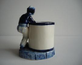 Porselein vaasje, object, Delft