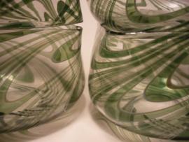 Schaaltjes van glas, (handwerk)