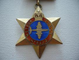Zilveren medaille, meteor lodge n0 8422