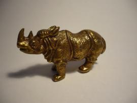Rinoceros van messing, mooi gedetailleerd