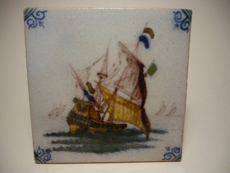 Makkum-tegel: Hollands schip