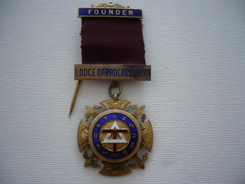 Zilveren medaille, founder lodge of progress n0 711