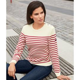 Saint James Sweater Round Neck Maree II R Wool Ecume/Tulipe (W)