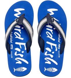 Weird Fish - Printed Flip Flops - Slippers - Waterford - True Blue  -SS21