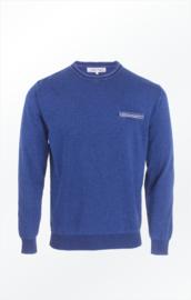 Piece of Blue Round-Neck Pullover - Dark Indigo Blue