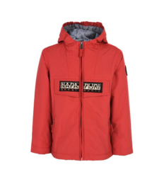Rainforest Winter Open Kid Full Zip Red
