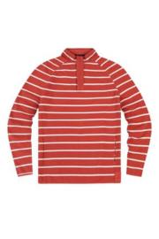 Mousqueton Marnod Flamme / Blanc - Sweater met 1/4 rits