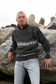 Norwool Noorse Trui  - 100% pure nieuwe wol - donkergrijs (uniseks)
