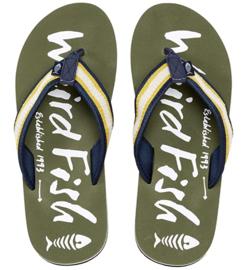 Weird Fish - Printed Flip Flops - Slippers - Waterford - Dark Olive - SS21