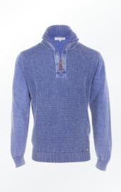 Piece of Blue 1/4 zip trui - Light Indigo Blue