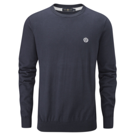 Henri Lloyd Miller Crew Neck Knit Fine Cotton Navy Blue