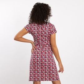 Weird Fish Tallahassee Patterned Dress Radical Red (W)
