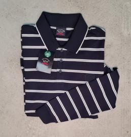 Paul & Shark Rugby Shirt Navy/White Stripe