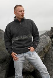 Windstopper Sweater of 100% pure new wool - dark grey