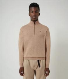 Napapijri Damavand Wool Sweater Half Zip -  Beige Portabel