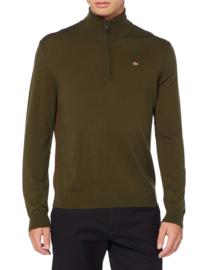 Napapijri Damavand Wool Sweater Half Zip -  Green Forest