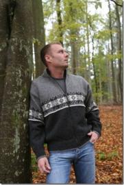 Norwool Noors Vest met rits - 100% pure nieuwe wol - licht/donkergrijs (uniseks)