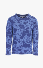 Piece Of Blue Flower Printed Pullover - Indigo Blue