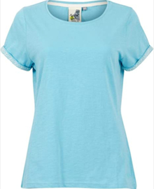 Weird Fish - Organic Outfitter Cotton Tee - Trinity - Sky Blue - SS21