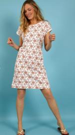 Weird Fish - Organic Printed Jersey Dress- Tallahassee - Light Cream - SS21