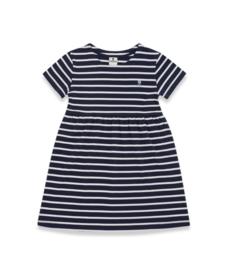 Mousqueton - VICKY - Striped Dress - Marine/Blanc - SS21