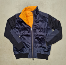 Paul & Shark Knitted Wool/Corduroy Blouson with Lining- Navy