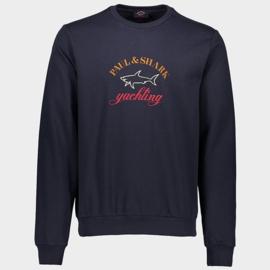 Organic cotton sweatshirt with three-colour embroidered logo