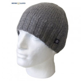 Henri Lloyd Knitted Beanie Soft Wool - Grey / Black