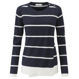 Henri Lloyd overslag trui navy white stripes (W)