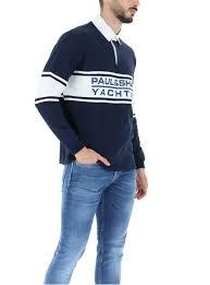 Paul & Shark Rugby Shirt Logo Navy/White