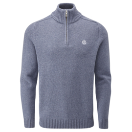 Henri Lloyd 1\2 Zip Wool Blend Knit Light Blue Melange