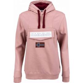 Napapijri BURGEE  hoodie - Pink woodrose
