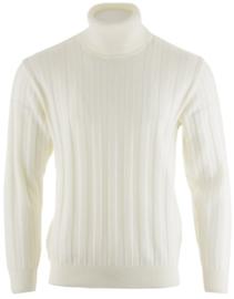 Paul & Shark Wool Ribbed Bretagne Turtle-neck Sweater - White