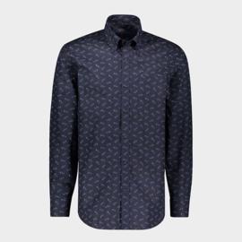 Paul & Shark shark print patch pocket shirt