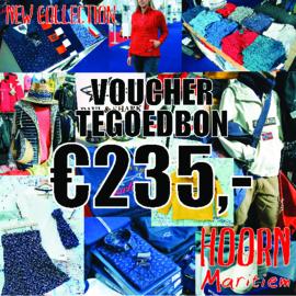 Voucher t.w.v. €235,- voor slechts €200,-