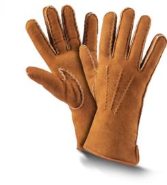 Fellhof Premium Lamsleren Handschoenen Dames - Cognac