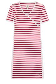 Mousqueton - TELENN - Breton Stripe Dress - White/Chili