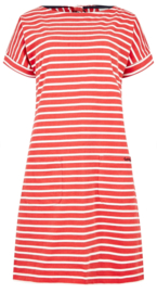 Weird Fish Etta Stripe Jersey Dress Radical Red (W)