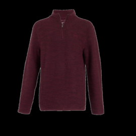 Weird Fish - Stern 1/4 zip Eco Macaroni - Plum