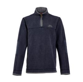 Weird Fish KENDALL 1/4 Zip Pique Sweatshirt - Navy