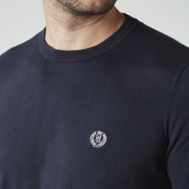 Henri Lloyd Miller Crew Neck Knit Fine Cotton Navy Blue